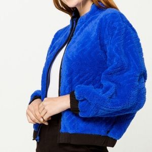 Hurley Sherpa Blue Womens Jacket, NWT XS